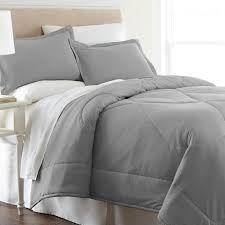 micro flannel greystone 4 comforter set