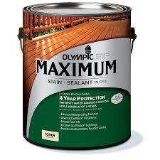 shop olympic maximum canyon brown transparent exterior stain