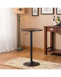Adjustable Height Bar Table Deal Alert Belham Black Top Adjustable Height Metal Bar