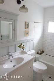 ur craftsman bath remodel hex tile subway tile board and batten