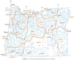 map of oregon 2 list of rivers of oregon