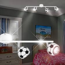 spot chambre enfant football projecteur de plafond enfant blanc le luminaire