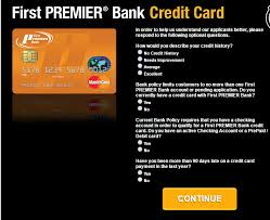 apply for a first premier credit card check application status