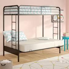 Viv Rae Sanders Twin Over Full Futon Bunk Bed  Reviews Wayfair - Twin futon bunk bed