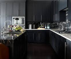 black kitchen cabinets with marble countertops kitchens with black marble apartment therapy