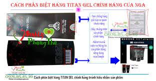 cách phân biệt hàng titan gel chính hãng của nga tại
