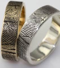 cool engagement rings wedding rings fingerprint bands spot cool stuff design