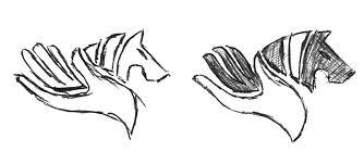 horse company logo design equicorrect how we designed it