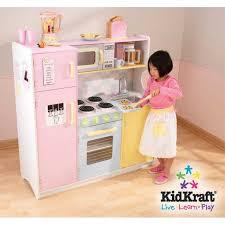 cuisine en bois pour fille kidkraft cuisine enfant en bois large pastel