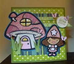 a gnome and her mushroom home paper craft u0026 scissors
