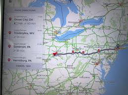 New Jersey To New York Map by Update 1000km 600mi To New York We Are Approaching Columbus Oh