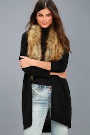 fur sweater chic faux fur sweater black cardigan faux fur cardigan