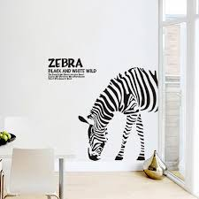 new creative diy abstract black and white sketch zebra home