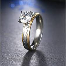silver steel rings images 9200 stainless steel rings silver gold diamond for women fashion jpg