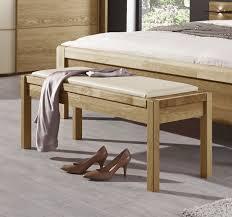 Bettbank Schlafzimmer Bettbank Aus Massiver Eiche Mit Sitzkissen Aus Kunstleder Praia