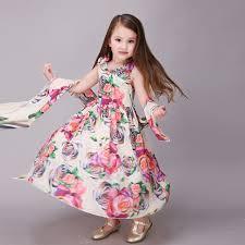 cool dresses brand childrens wear girl dress kids summer cool floral