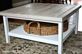 refurbished furniture cream coffee table with wicker baskets white