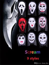 halloween mask party scary mask ghost mask scream mask costume