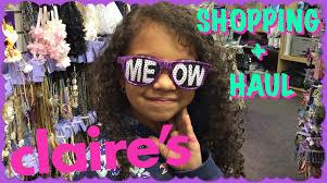 claire u0027s shopping haul vlog shopkins earrings cool glasses