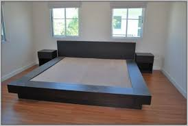 How To Build A Platform Bed Frame With Drawers by California King Bed Frame With Storage Plans Frame Decorations