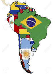 South America Map Countries Some Map Of South American Countries Stock Photo Picture And