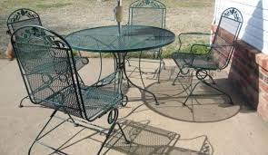 Oval Wrought Iron Patio Table Wrought Iron Patio Furniture Foot Pads Icamblog