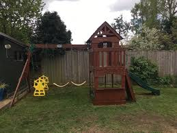 backyard discovery atlantis swing set 3 swings slide mini