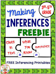 free making inferences printables for your students in 3rd 5th