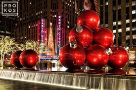 6th avenue decorations and radio city at christmas fine art