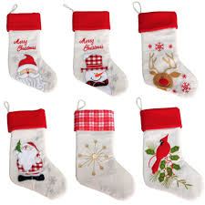 online buy wholesale white christmas stockings from china white