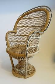 Cane Peacock Chair For Sale Vintage Small Rattan Peacock Chair By Makinglifelovely On Etsy