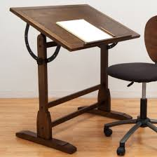 Oak Studio Desk by Features Adjustable Angle Table Top From Flat To 90 Degrees