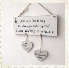 wedding anniversary plaques personalised anniversary plaque wedding keepsake hanging hearts