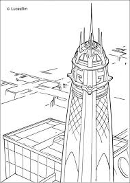 jedi tower coruscant coloring star wars coloring