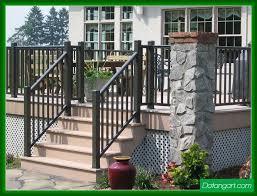 r1000 aluminum railing front porch railing and step railing