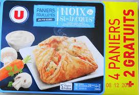 cuisiner les noix de st jacques surgel馥s paniers feuilletés noix de st jacques surgelés u 600 g 6 x