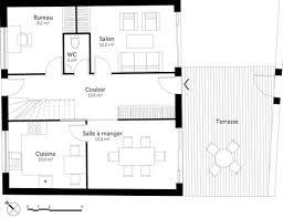 plan maison etage 4 chambres 1 bureau plan de maison 6 chambres d du plan de maison unifamiliale