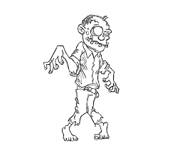 free printable zombies coloring pages kids