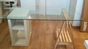 tapis bureau transparent bureau transparent ikea cheap meuble de noir laque with table laqu