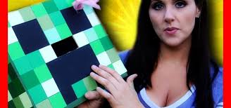 how to make a minecraft creeper head costume out of a cardboard