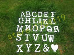 standing 10cm artificial wood wooden white letters for decorations