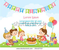 birthday party for kids birthday party stock images royalty free images vectors