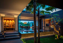 homes with interior courtyards modern resort villa with balinese theme idesignarch interior