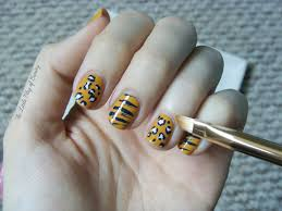 nail art mixed cat prints with wah nails and birchbox the