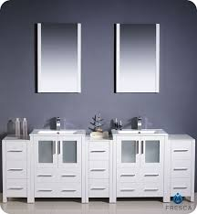 84 Inch Bathroom Vanities by Fresca Torino Double 84 Inch Modern Bathroom Vanity White With