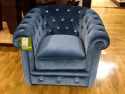 Navy Blue Leather Club Chair Anything But Ordinary Blue Velvet Tufted Club Chair