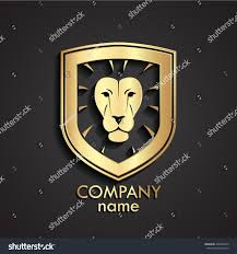 logo lamborghini 3d 3d golden lion head heraldry logo stock vector 498426379