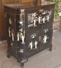 Liquor Cabinet Vintage Chinese Japanese Wine Liquor Cabinet Chest Mother Of Pearl