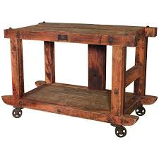 rolling kitchen island table rolling kitchen island table or cart rustic vintage wood metal and