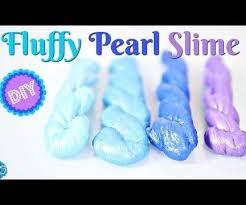 diy fluffy pearl slime poking slime no borax baking soda method